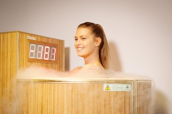 Cryo sauna behandeling